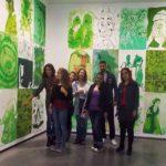 Actividad visita a museo para aprender lengua y cultura española.