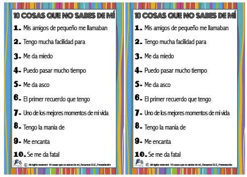 Recursos ELE - Presentación en español.
