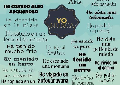 Recursos Español LE | Yo nunca