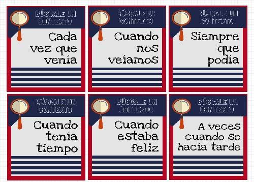 Materiales español para extranjeros: imperfecto.