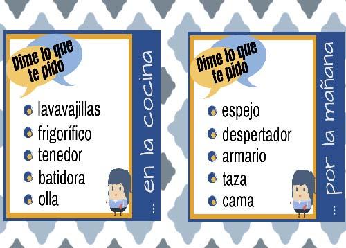 Recursos enseñar español LE: léxico de la casa.