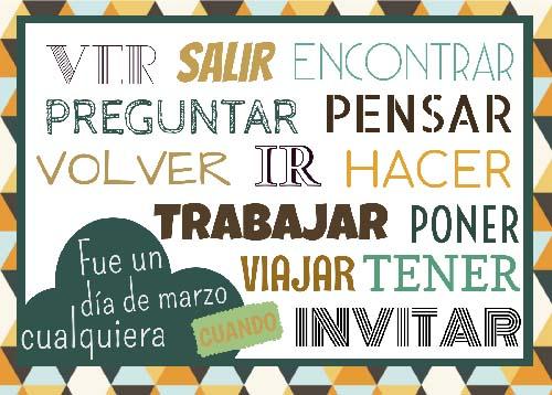 Recursos español para trabajar el pretérito indefinido.